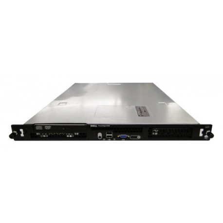 Server Dell PowerEdge R200 Rackabil 1U, Intel Pentium Dual Core E5400 2.7 GHz, 2 GB DDR2, DVD-ROM, 1 x Sursa, GARANTIE 2 ANI